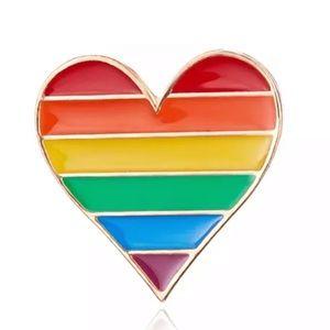 Jewelry - Rainbow Heart  ♡ Brooch Pin